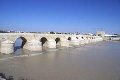 Римский мост Cordoba, Андалусии, Испании Стоковые Фото