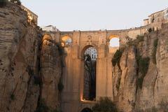 Римский мост Puente Nuevo Ronda, Испания стоковое фото rf