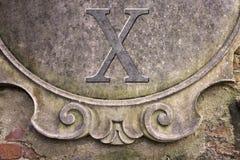 Римский номер написанный на стене штукатурки - изображение концепции стоковая фотография rf