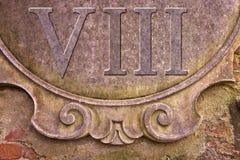 Римский номер написанный на стене штукатурки - изображение концепции стоковые изображения