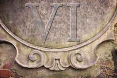 Римский номер написанный на стене штукатурки - изображение концепции Стоковая Фотография