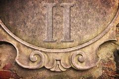 Римский номер написанный на стене штукатурки Стоковые Фото