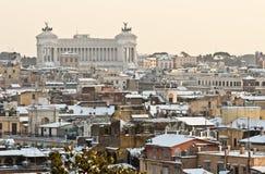 римский снежок крыш стоковое изображение rf