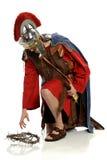 Римский солдат достигая для кроны терниев Стоковое фото RF
