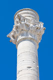 Римский столбец. Бриндизи. Апулия. Италия. Стоковое Фото