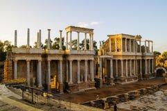 Римский театр в Мериде Стоковая Фотография