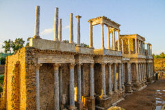 Римский театр в Мериде Стоковое Изображение