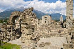 Римский театр в Aosta Стоковое Изображение RF