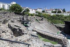 Римский театр Лион Франция Стоковые Фото