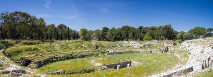 Римский театр на Сиракузе Стоковые Фото