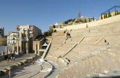 Римский театр Cartagena, Испании стоковые фотографии rf