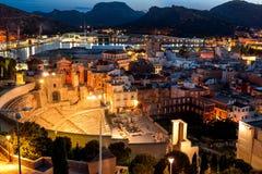 Римский театр Cartagena, Испания стоковые фотографии rf