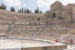Римский театр Cartagena южная Испания Стоковые Фотографии RF