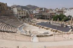 Римский театр Cartagena южная Испания Стоковые Фото