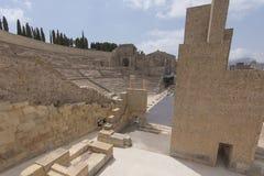 Римский театр Cartagena южная Испания Стоковое Изображение RF