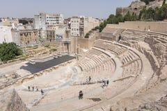 Римский театр Cartagena южная Испания Стоковое Изображение