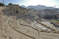 Римский театр Cartagena стоковые фото