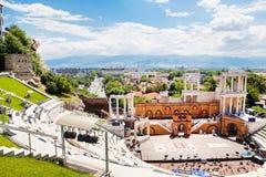 Римский театр Philippopolis в Пловдиве, Болгарии Стоковые Изображения