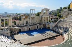 Римский театр Philippopolis Стоковая Фотография RF