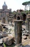 Римский форум, антиквариат Стоковая Фотография