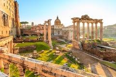 Римский форум в Риме Стоковые Изображения RF