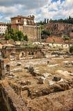 Римский форум в Риме, стоковые изображения rf