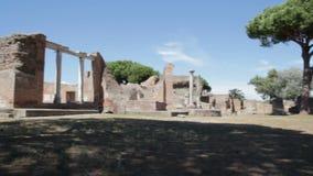 Римский форум в Ostia видеоматериал