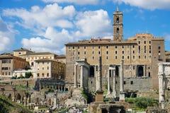 Римский форум и дворец сенаторов Стоковые Изображения