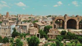 Римский форум на ясный летний день Одно из самых известных мест в Риме акции видеоматериалы