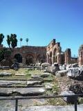 Римский форум, Рим - взгляд стоковое фото rf