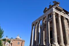 Римский форум, Рим Италия Стоковое Изображение RF