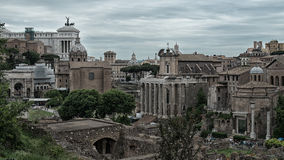 Римский форум Рим Италия Стоковое Фото