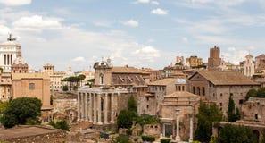 Римский форум Рим, Италия Стоковые Фото