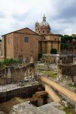 Римский форум, Рим Стоковое Изображение
