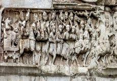 Римский форум - свод фриза Константина Стоковые Изображения