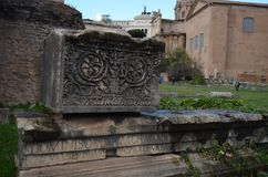 Римский форум, римский форум, свод Septimius Severus, археологических раскопок, древней истории, исторического места, стены Стоковое фото RF