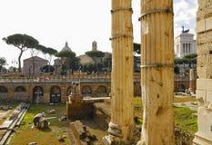 Римский форум, центр ` s Рима исторический, Италия Стоковая Фотография RF