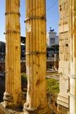 Римский форум, центр ` s Рима исторический, Италия Стоковая Фотография