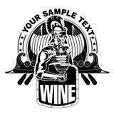 Римский legionary с чашкой вина Стоковая Фотография