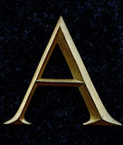 Римский serif a Стоковое Изображение RF