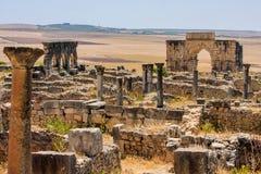 Римское место Volubilis, Марокко Стоковое Изображение