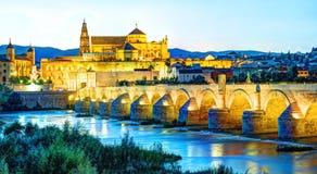 Римское река моста и Гвадалквивира Стоковые Изображения RF