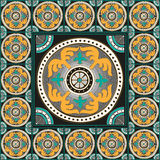 Римское традиционное оформление дома мозаики Стоковое Изображение