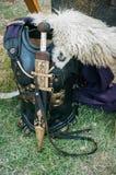 Римское Chestplate и шпага стоковое изображение