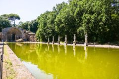 Римское tivoli adriana виллы археологии Стоковые Фотографии RF
