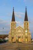 Римско-католическая церковь в городке Chang, Chanthaburi, Таиланде Стоковые Изображения