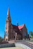 Римско-католическая церковь в Cacica, Румынии Стоковая Фотография
