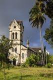 Римско-католическая церковь - Bagamoyo стоковое изображение rf