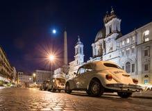 Рим, аркада Navona на ноче стоковое изображение rf