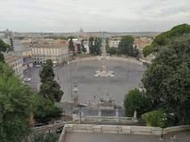 Рим - Аркада del Popolo от террасы Pincio стоковые изображения